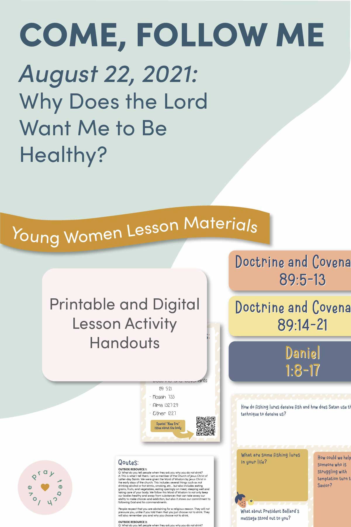 Young Women Doctrinal Topic August 22: