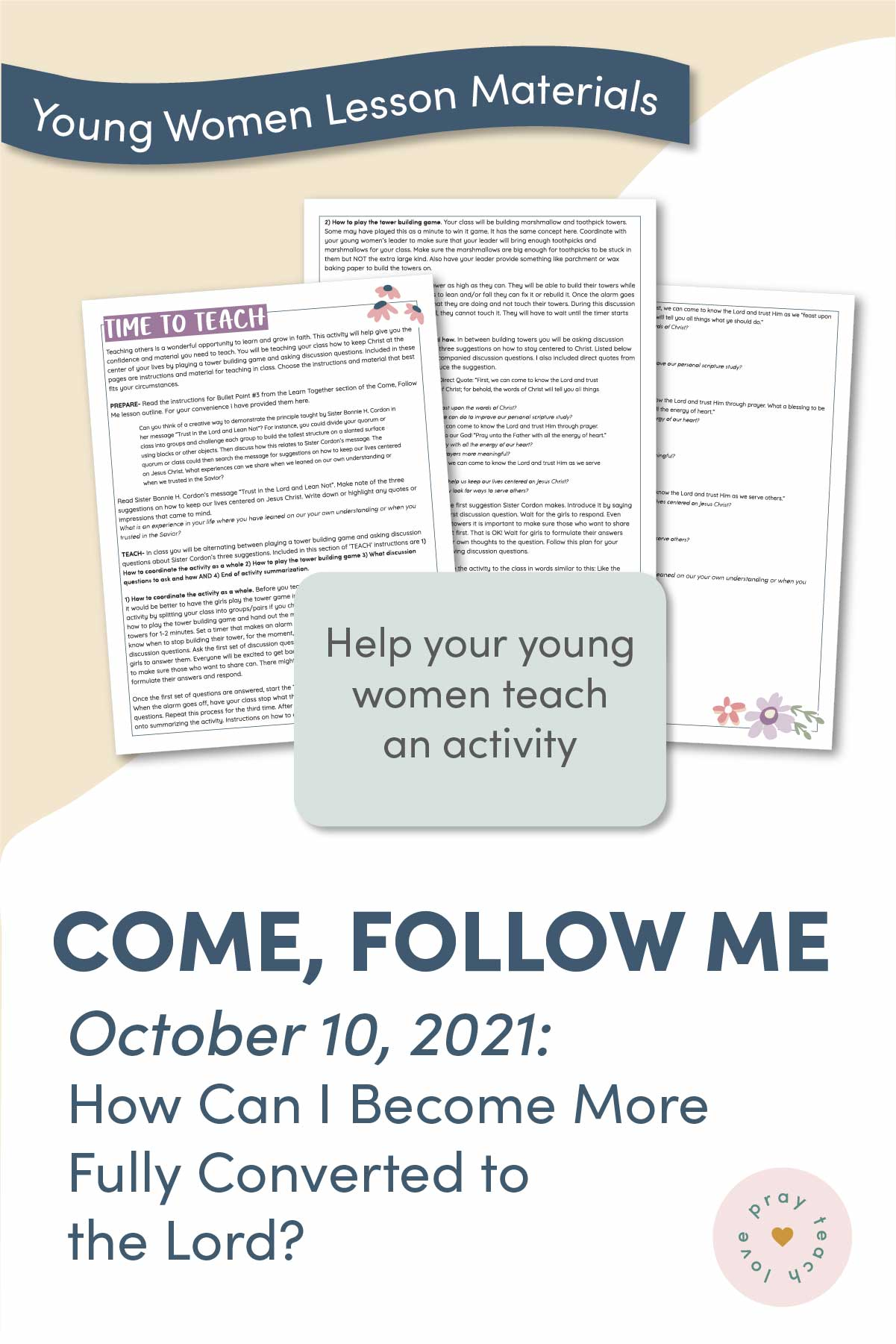 Young Women Doctrinal Topic October 10: