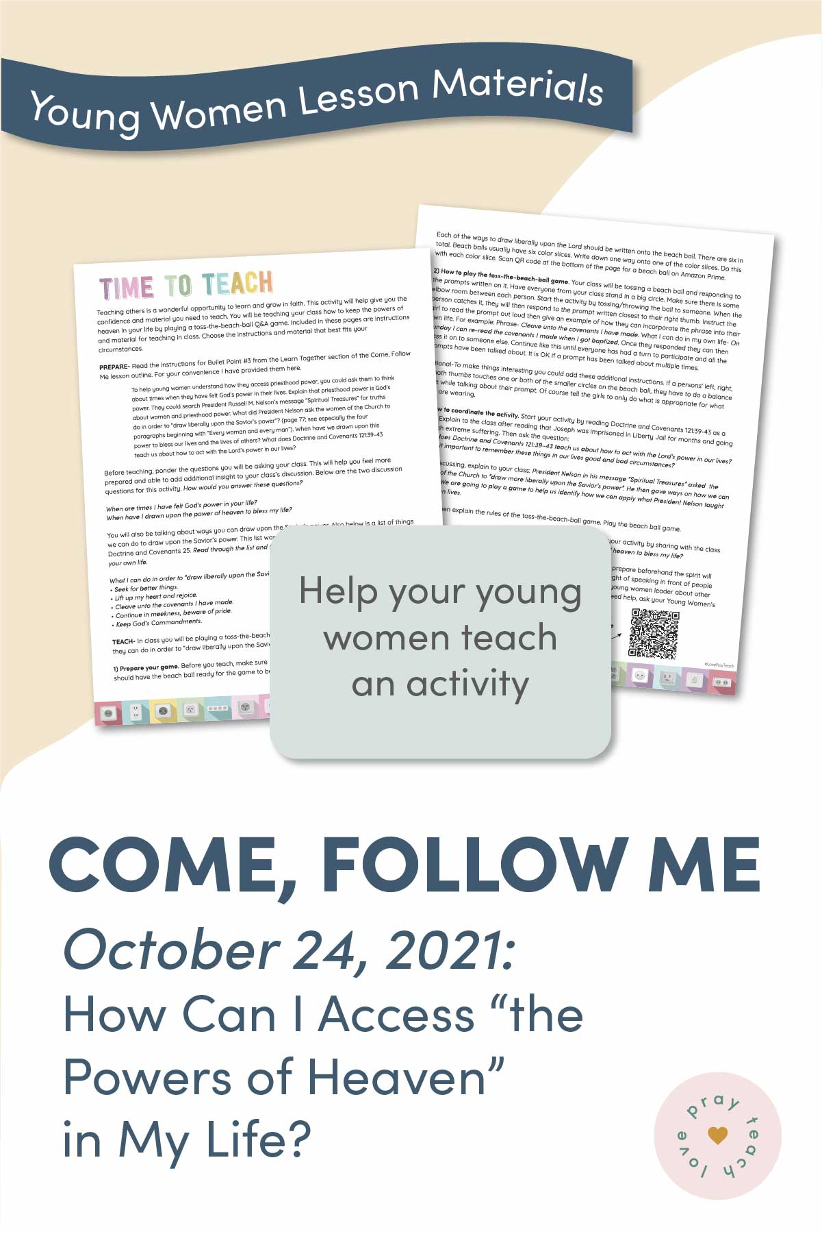 Young Women Doctrinal Topic September 26: